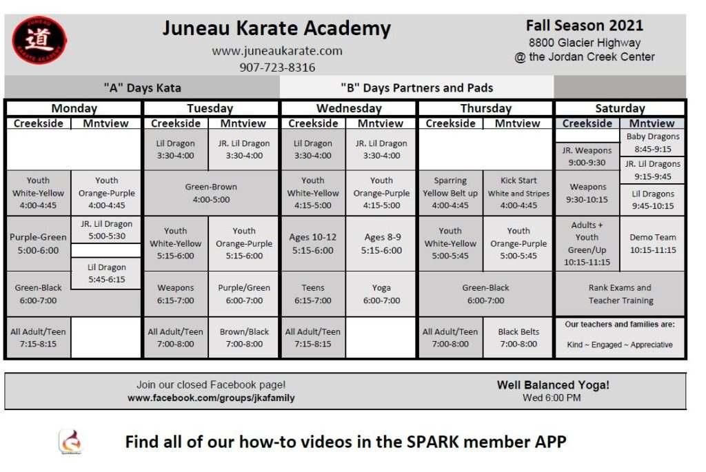 Nathan Young Schedule 1024x685, Juneau Karate Academy Juneau AK
